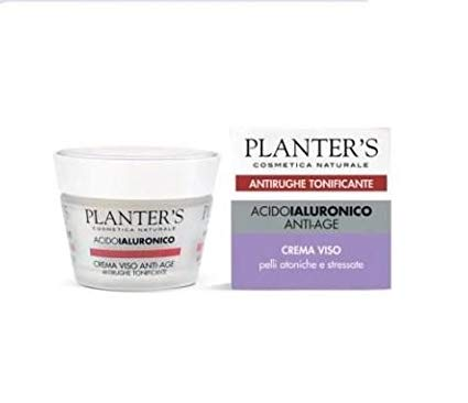PLANTER'S - Acido Ialuronico Anti-Age - Crema viso - Antirughe tonificante - 50 ml