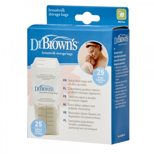 DR. BROWN'S - Breastmilk storage bags - Sacca contenitore per il latte